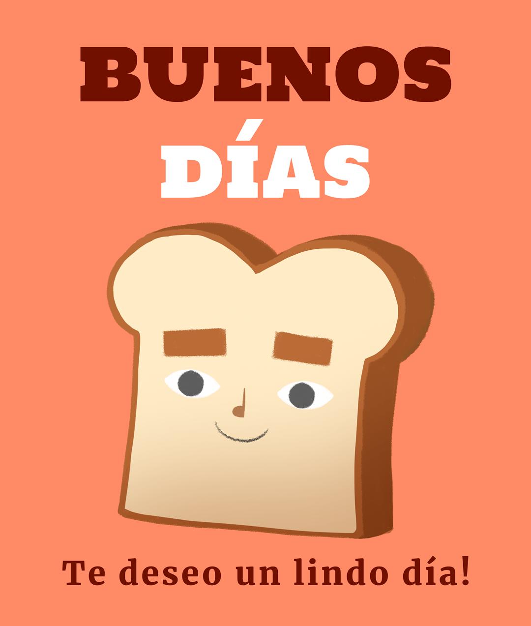 El pan sonriente te desea...